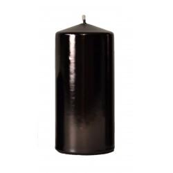 Świeca Walec Średnia 12 cm czarna lakierowana