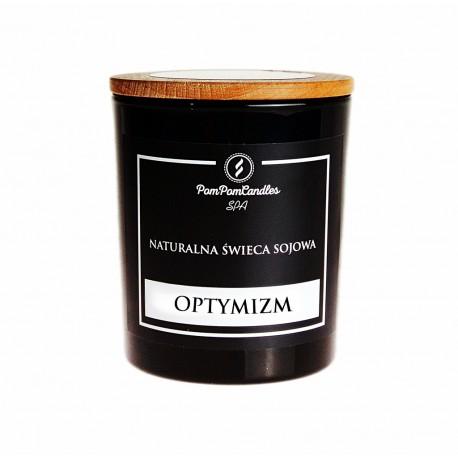 Naturalna świeca sojowa 200 g OPTYMIZM