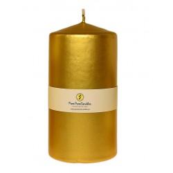 Świeca Walec Średnia 12 cm złoty metalik
